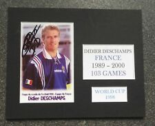 "DIDIER DESCHAMPS-FRANCIA 1998 COPPA DEL MONDO-UN BRILLANTE firmato 10"" x 8"" Mount"