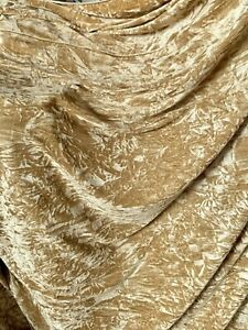 2 MTR QUALITY GOLD ICE CRUSH VELVET FABRIC..58 INCHE WIDE