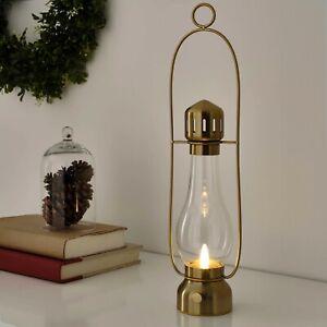 "IKEA Strala LED Lantern Brass 2020 Table Lamp 17"" Battery-powered SoftWarm Light"