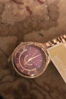 NEW Michael Kors MK 3722 Ladies Rose Gold Tone Watch... US SELLER