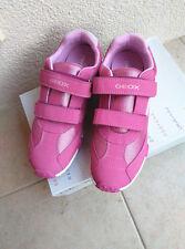 Damen Mädchen Kinder Geox Halbschuhe Sneaker Gr.38 Klettverschluss Fuchsia neu