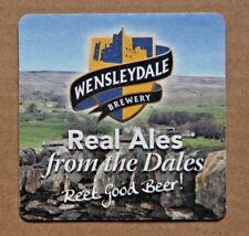 BEER MAT X 1. NEW. WENSLEYDALE BREWERY. REAL ALES FROM THE DALES. 4 X 4 INCH