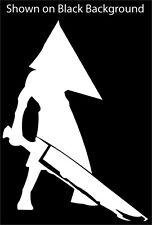 """Pyramid Head ~ Silent Hill ~Vinyl Decal 4"""" x 5 1/2"""" ***White***"""