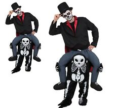 Adult Shoulder Ride On All In One Step in Skeleton Halloween Fancy Dress Costume
