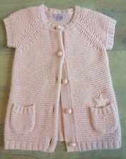 Lisa Rose 4-5 years Cardigan Chunky Cable Knit Pastel Pink Warm Winter Star