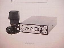 1977 SHAKESPEARE CB RADIO SERVICE SHOP MANUAL MODEL GBS1500