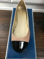 NEW WOMENS SEYCHELLES BALLET FLATS, BEIGE & BLACK Patent Leather, Size 9, WOW!