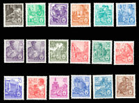 DDR #Mi405xX-Mi422xX Mint CV€250.00 1953-1954 Redrawn Workers [187-204]