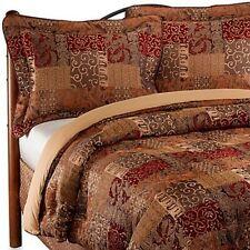 NEW Croscill Galleria 1 King Pillow Sham Red Gold Brown Opulence NWOT