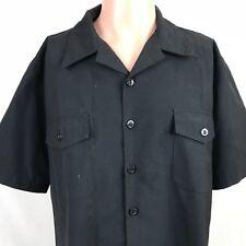 Vintage Patriot By Weintraub Bros Button Up Navy Shirt XL Black Wool Blend USA