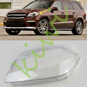 For Mercedes-Benz W166 GL-Series 2012-16 Left Side Headlight Clear Cover + Glue