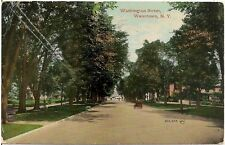 View on Washington Street in Watertown NY Postcard 1911