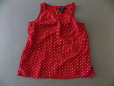 Nautica girls red sleeveless top. size 10