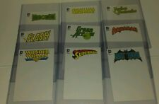 DC comics Justice League 4x6 sketch blank cover box topper card set Batman Flash