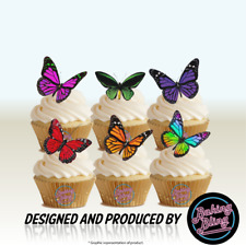 Butterfly Mix Edible Cake Toppers Decorations Nature Various Colours Party Fun
