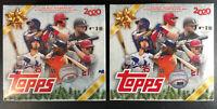 Lot 2 2020 Topps Holiday MLB Baseball Sealed Mega Box 100 Cards Per Box