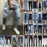 Men's Ripped Skinny Jeans Destroyed Frayed Stretch Trousers Denim Pants Stylish