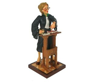 """Lady Lawyer by Guillermo Forchino Caricature Figurine Miniature 8.75""""H New"""