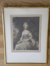 Thomas Gainsborough Portrate of Mrs Robinson Framed Signed Print