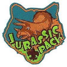 CUB BSA BOY SCOUT JURASSIC PACK PARK 4 PATCH EMBLEM LOT TRICERATOPS DINOSAUR NEW