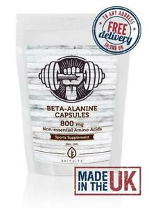 Beta-Alanine Capsules Non-essential 800mg Amino Acid Pills UK