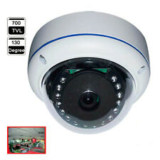 130 Degree Fisheye Wide Angle 700TVL 1/3 SONY CCD OSD Meun IR Dome CCTV Camera