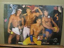 Perfect male locker room Hot Guys ORIGINAL Vintage Poster 1989 2027
