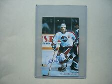 1980`S NHL HOCKEY PHOTO LAURIE BOSCHMAN AUTHENTIC AUTOGRAPH AUTO SHARP!!