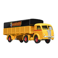 DEFECT DINKY TOYS 32AN Atlas Yellow Tracteur Panhard et SEMI REMORQUE Car Model