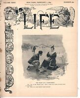 1894 Life February 1 -Hill cannot win the presidency;Negro woman gift to Harvard