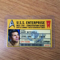 Star Trek Id Badge - USS Enterprise Gary Mitchell cosplay prop