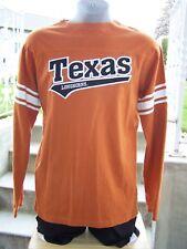 Mens TEXAS LONGHORNS Long Sleeved T-SHIRT Size X-Large J AMERICA Sewn-On Logo