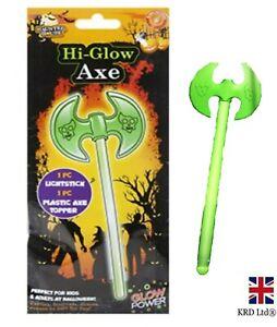 HALLOWEEN GLOW AXE Glow In The Dark Glow Sticks Fancy Dress Party Prop CostumeUK