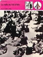 FICHE CARD la Rafle du Vel d'Hiv Paris Juifs Jews Jewish Juillet 1942 France 90s
