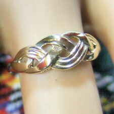 9 ct GOLD  second hand gold woven ring