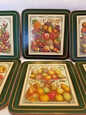Vintage Pimpernel Traditional Coasters Classic Fruit 6 Coasters in Box 4.25""