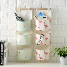 Bathroom Wall Hanging Organizer Container Wardrobe Closet Storage Bag Pocket AA