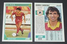 225 CARNEVALE AS ROMA FOOTBALL CARD 92 1991-1992 CALCIO ITALIA SERIE A
