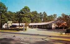 Suffolk Virginia birds eye view Green Pines Motel vintage pc Z16364