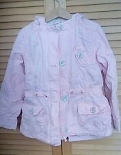 NEXT pink 100% cotton coat jacket anorak age 5-6, immaculate condition