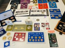More details for joblot gb coin sets  other coins/coin stamp covers