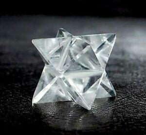 Crystal For Immune System - Clear Quartz Gemstone Merkaba Star Keepsake Gift