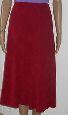 Womens plus size 20 red  brushed cotton knee length skirt with tie belt