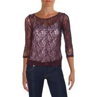 e117d18fcf6e00 Michelle by Comune Womens Black Slub Front Tie Crop Top Shirt S BHFO ...