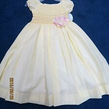 Will'beth size 4T dress yellow w/smocking new w/tags baby doll sleeve