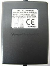 3 AMP/3000MA 24 VOLT 72VA AC/AC OUTPUT POWER ADAPTOR/SUPPLY/CHARGER/TRANSFORMER