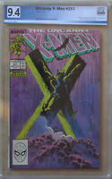 UNCANNY X-MEN #251 (November 1989 | Marvel) PGX 9.4 (NM) Like CGC - White Pages