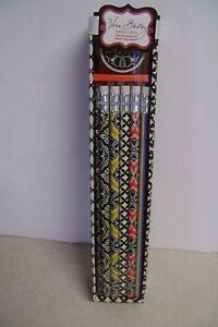 Vera Bradley Pencil Box Set Barcelona  #11270-061 New 10 -#2Pencils/Sharpner