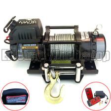 Cabrestante Guerrero Ninja 4500 lb (approx. 2041.17 kg) 12 V con Cable De Acero, Control Inalámbrico, cubierta de cabrestante
