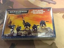 40K Warhammer Space marine Scout Squad with Sniper Rifles NIB Sealed